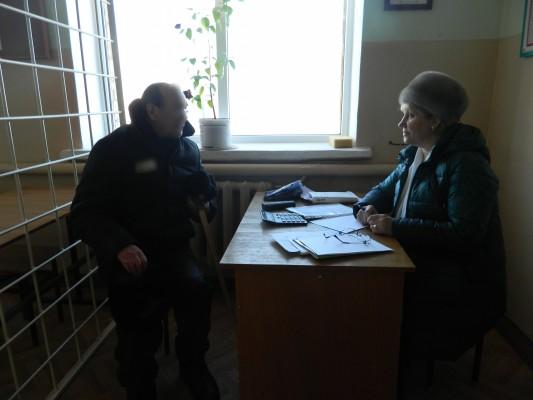 Представитель Пенсионного фонда России проконсультировала осужденных ИК-2 УФСИН России по Орловской области