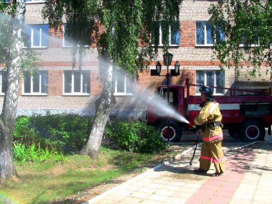 В КП-7 УФСИН России по Орловской области  прошли пожарно-тактические учения