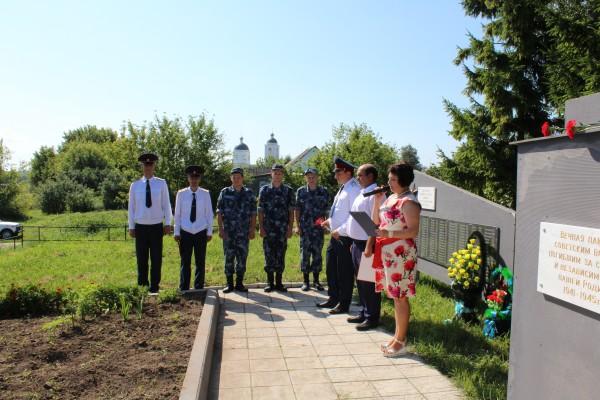 Сотрудники ИК-6 и КП-3 УФСИН России по Орловской области приняли участие в  мероприятиях, посвященных 75-й годовщине освобождения города Орла от фашистских захватчиков