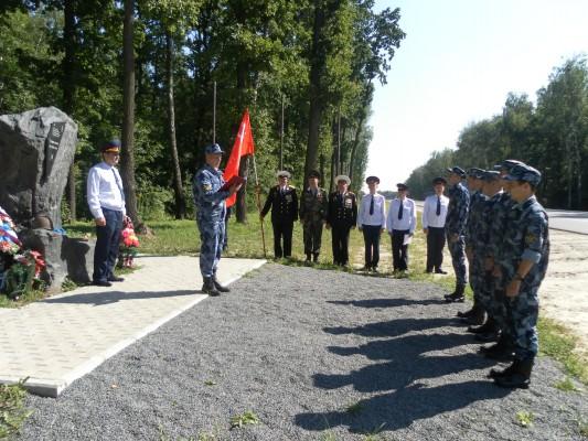 Возложение цветов к памятнику сотрудниками ОО ОПБСТИН