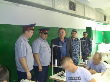 Уполномоченный по защите прав предпринимателей в Орловской области Евгений  Лыкин посетил учреждения УФСИН России по Орловской области