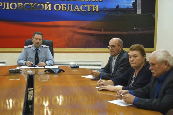 В УФСИН России по Орловской области состоялась прямая линия  с населением